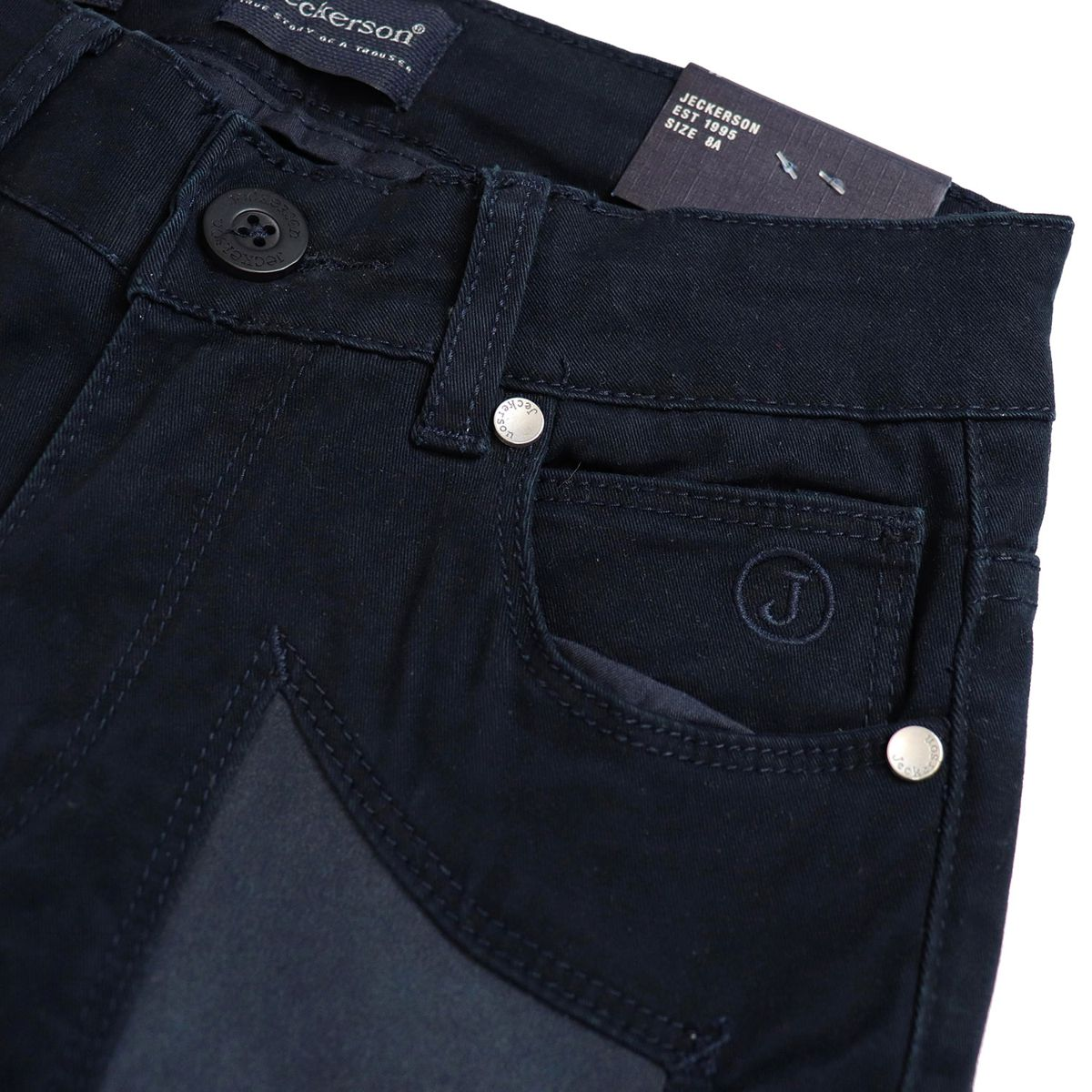 Cotton trousers with light patches Navy Jeckerson