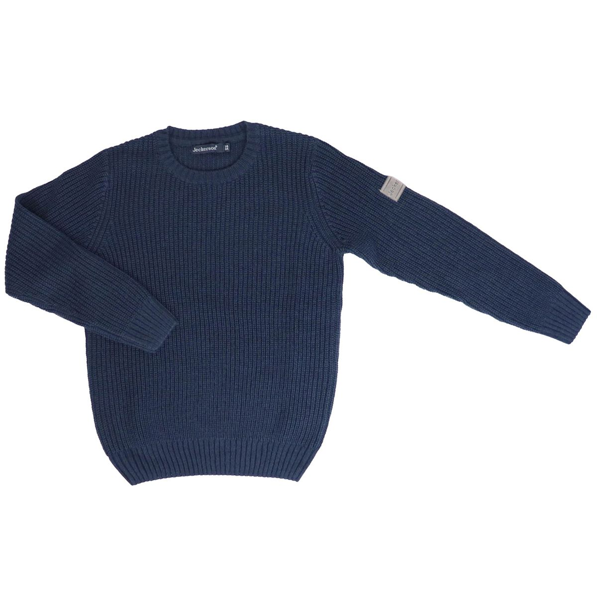Ribbed crew neck in cashmere blend Blue Jeckerson