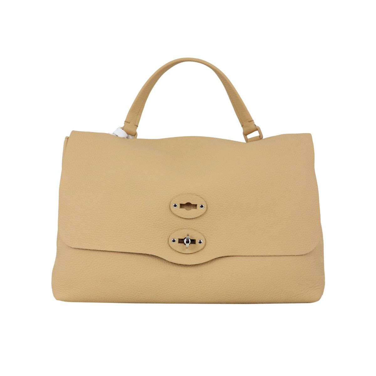 Postina M Pure leather bag Camel Zanellato