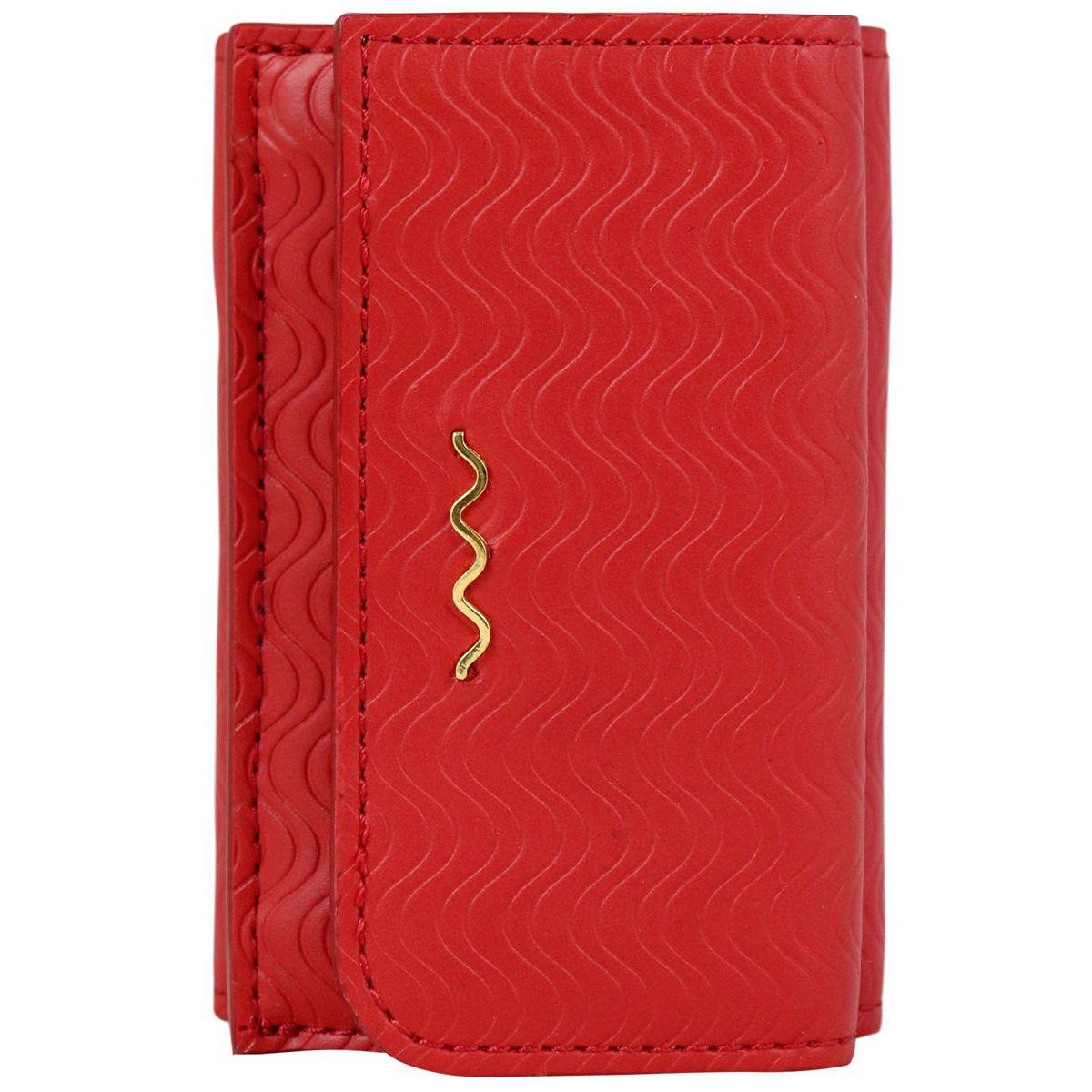 Blandine Silk Wallet in leather Red Zanellato