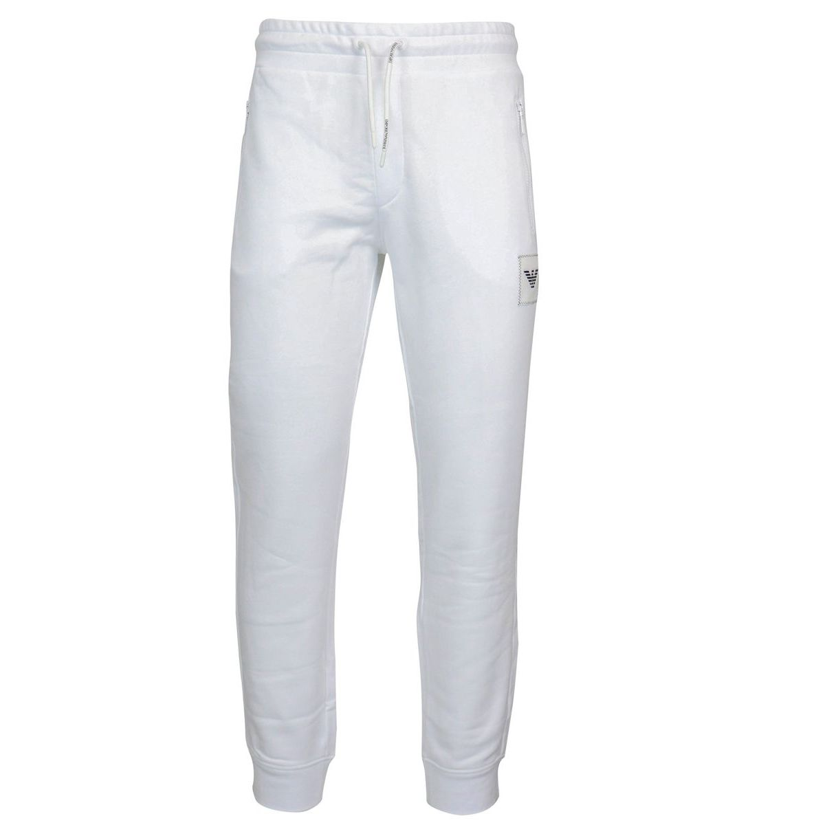 Sporty trousers with logoed patch White Emporio Armani