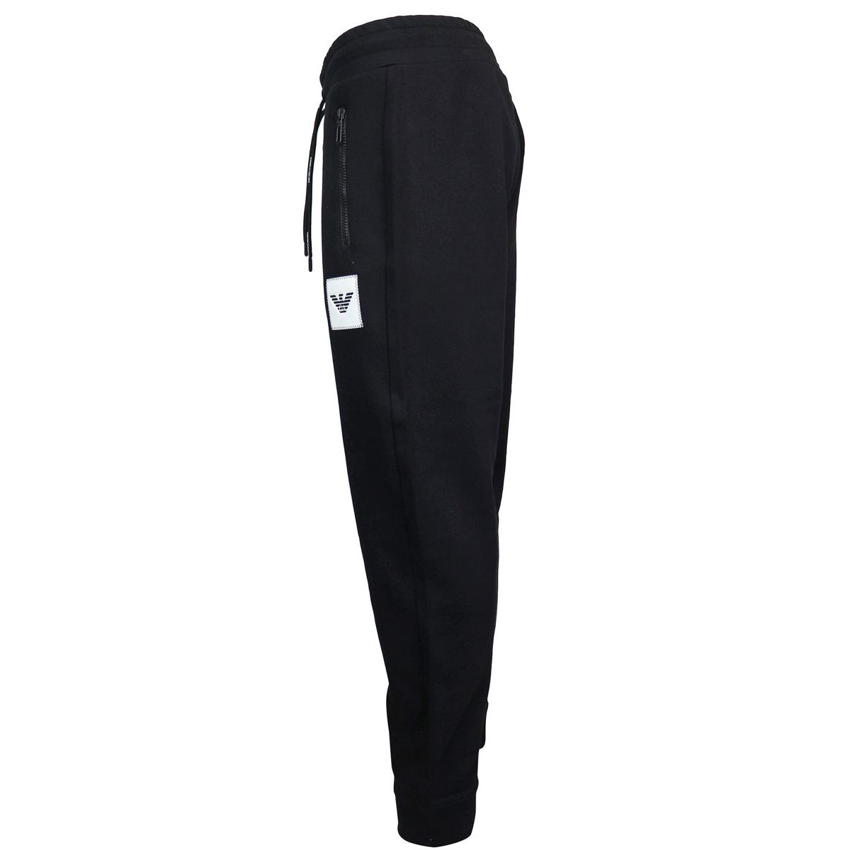 Sporty trousers with logoed patch Black Emporio Armani