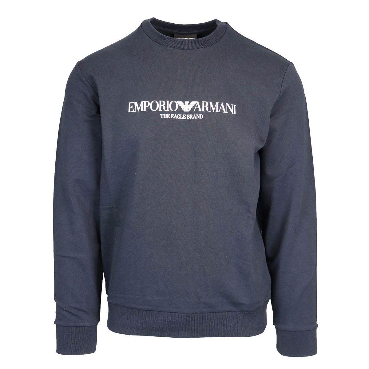 Crewneck sweatshirt with writing and logo Navy Emporio Armani