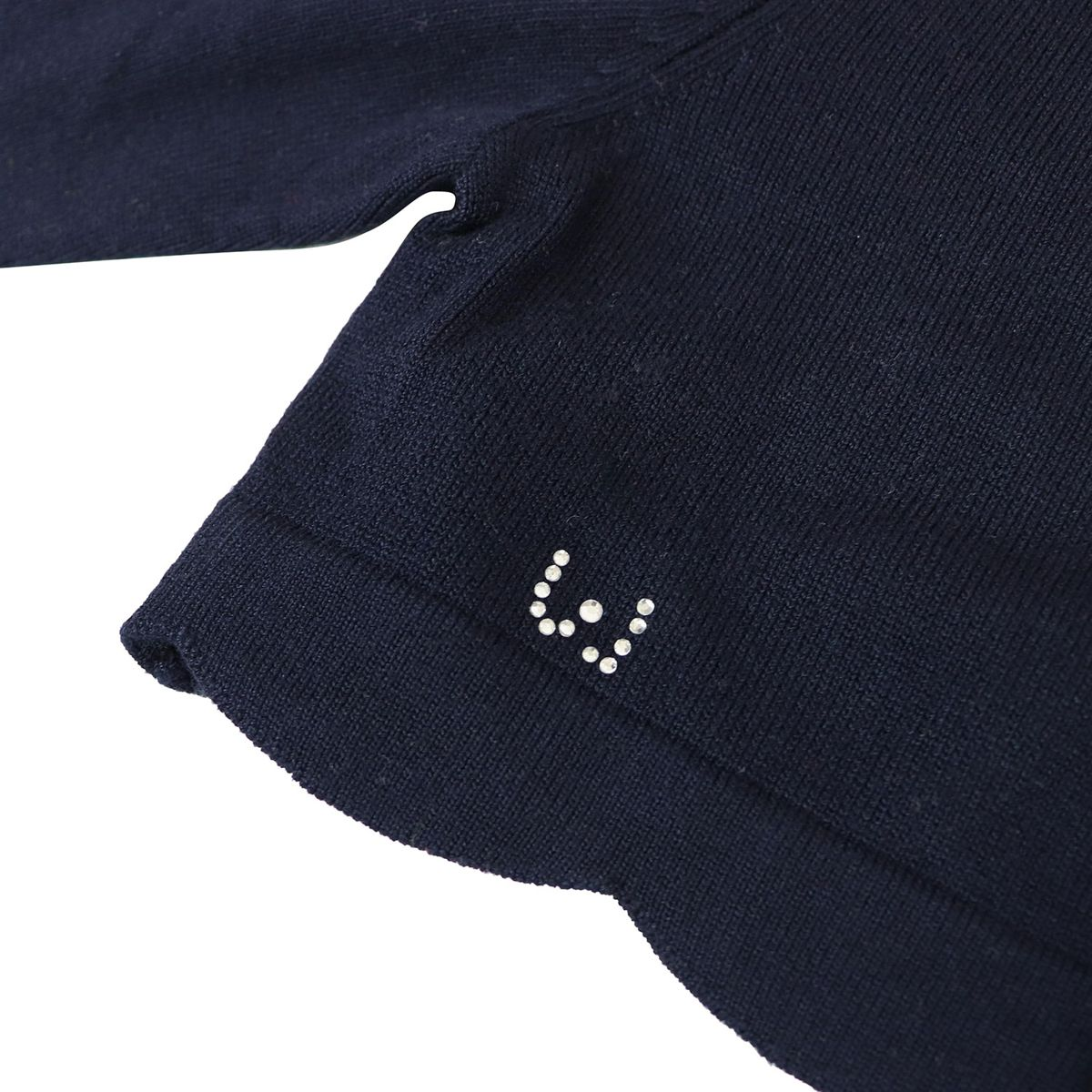 Short cardigan with scalloped edge and glitter logo Blue Liu Jo