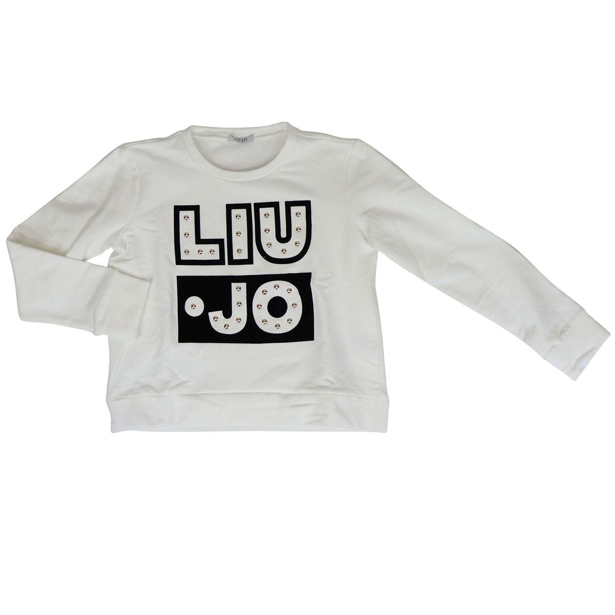 Crewneck sweatshirt with logo and applications White Liu Jo