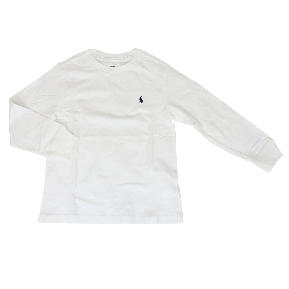 Crewneck cotton sweater with logo White Polo Ralph Lauren
