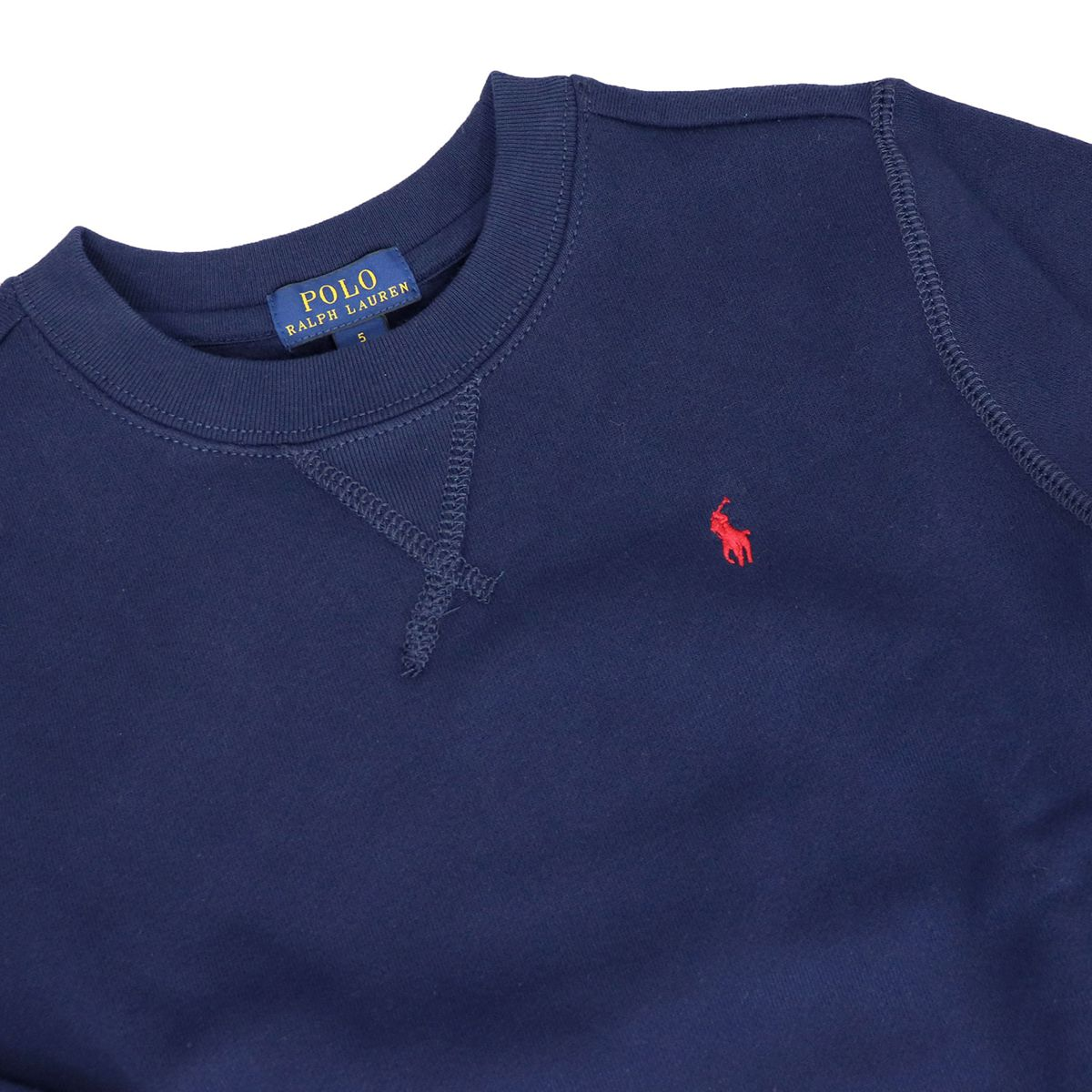 Crewneck sweatshirt in cotton blend with contrast logo Blue Polo Ralph Lauren