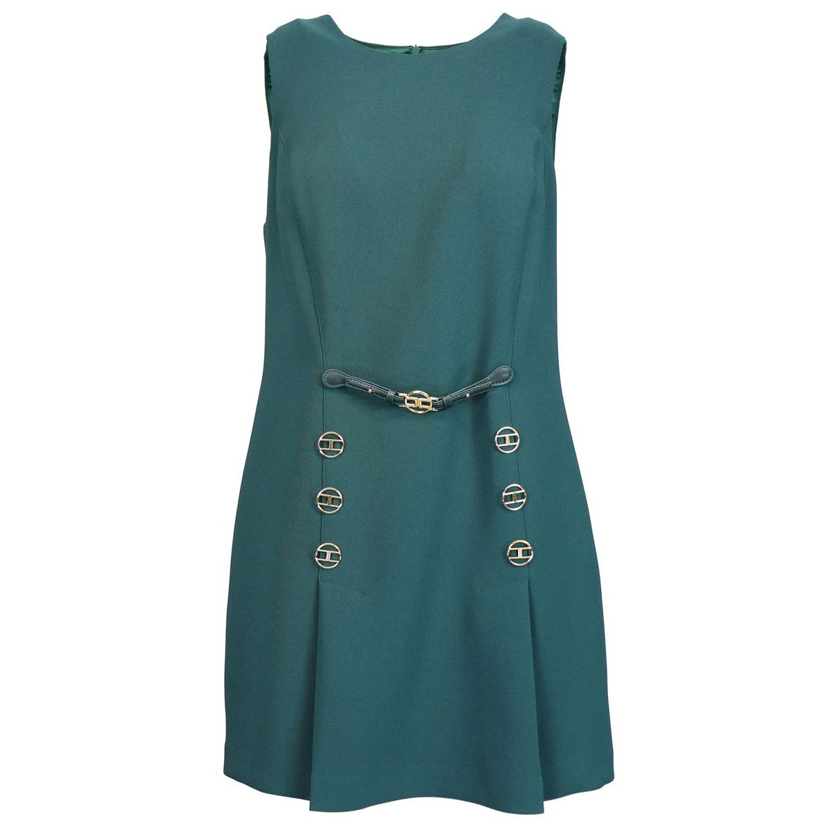 dress with applications Green bottle Elisabetta Franchi