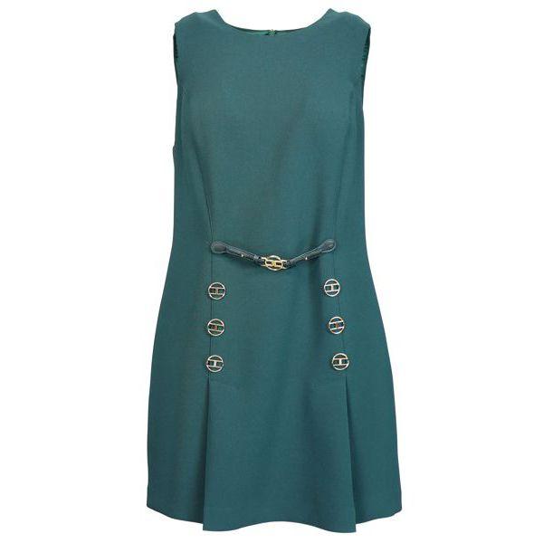 dress with applications Green bottle Elisabetta Franchi
