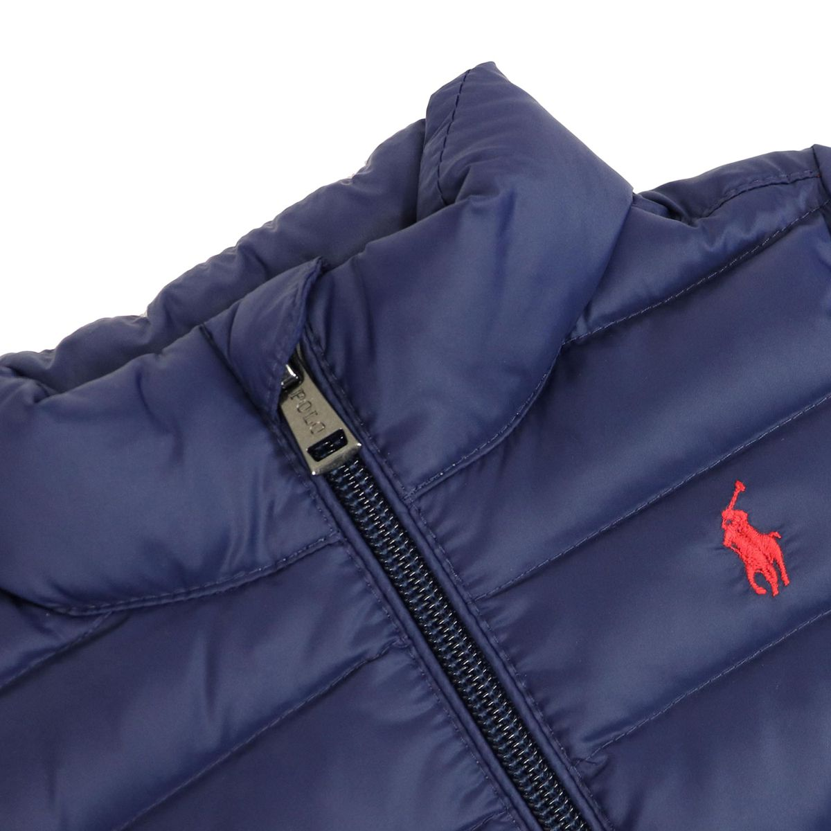 Quilted nylon quilted jacket with zip and logo Blue Polo Ralph Lauren