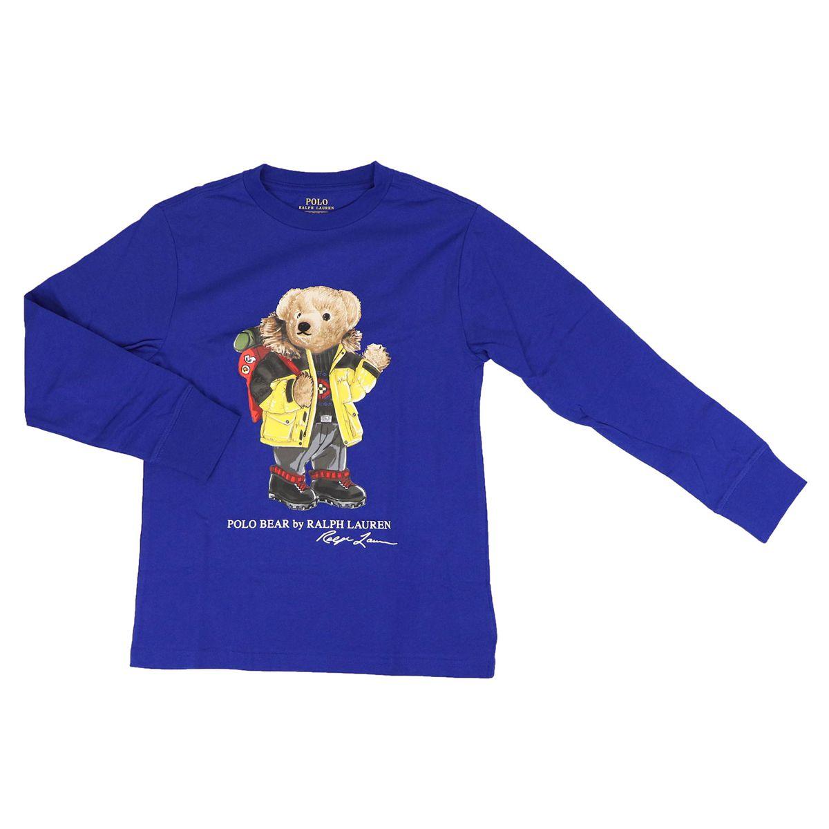 Crew-neck cotton shirt with bear print Bluette Polo Ralph Lauren
