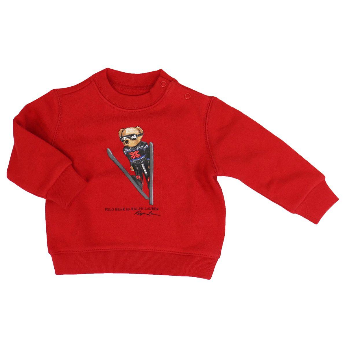 Cotton crewneck sweatshirt with logo print Red Polo Ralph Lauren