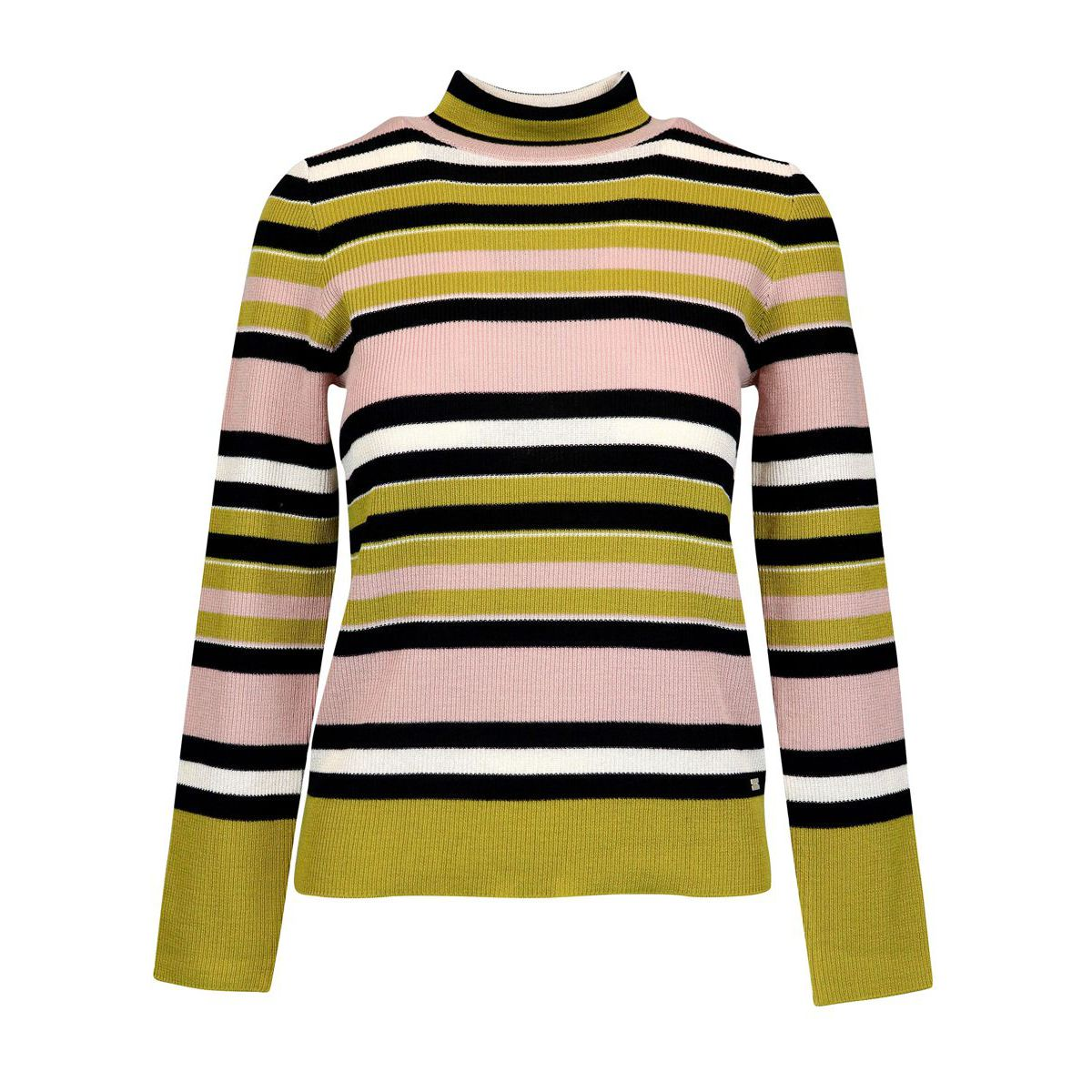 Wool blend turtleneck with striped pattern Rigato Nenette