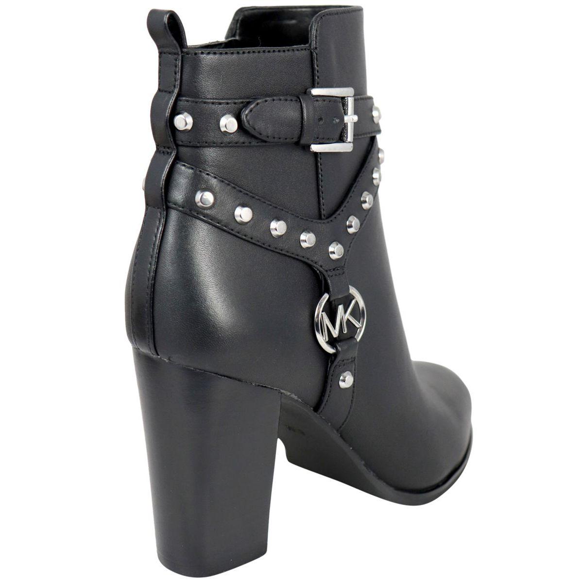 PRESTON handbag in leather with high heel Black Michael Kors