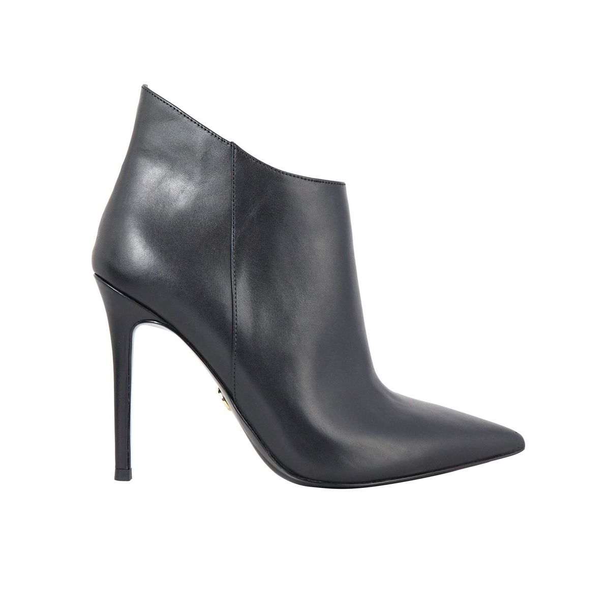 ANTONIA ankle boots in leather with high heel Black Michael Kors