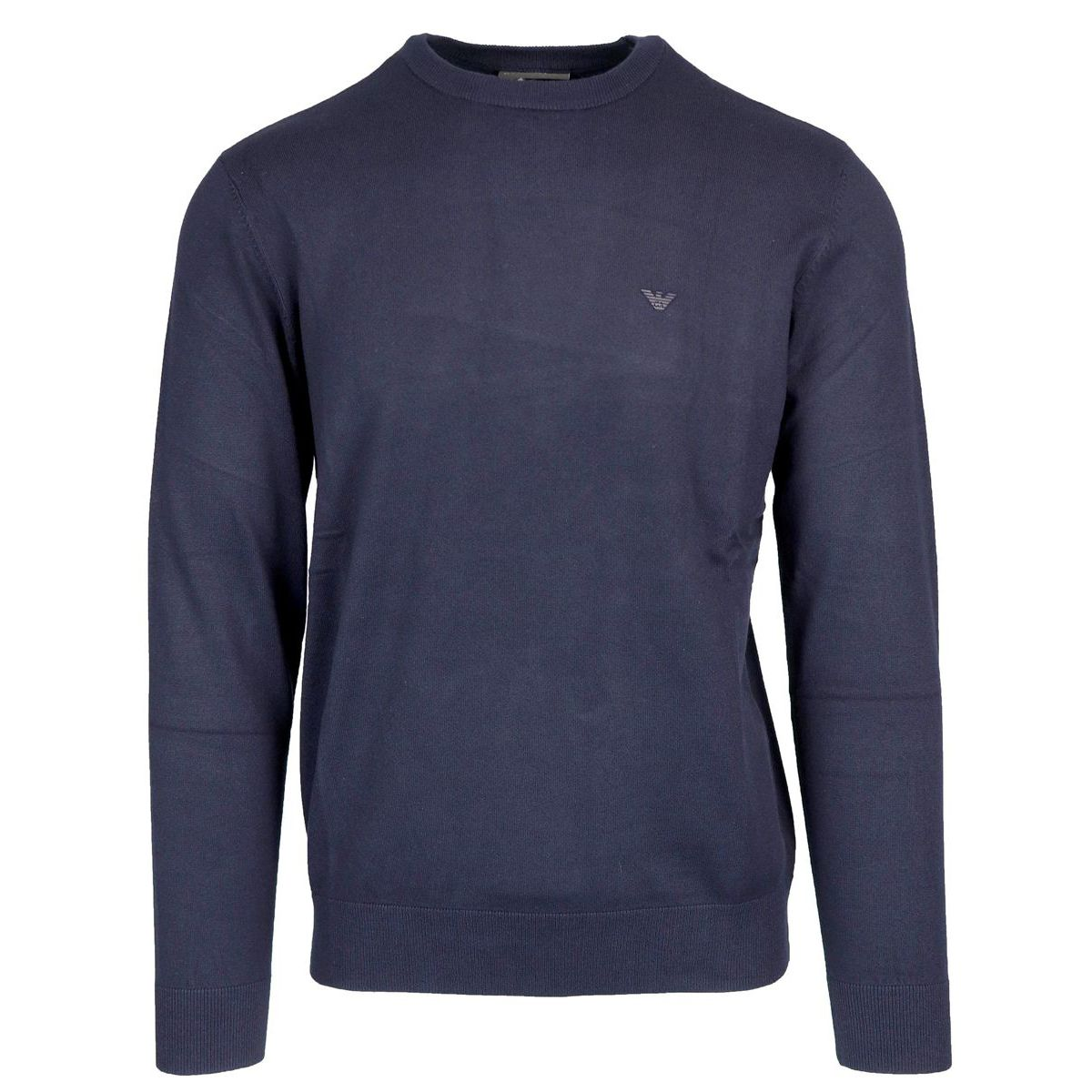 Viscose blend crew neck sweater Navy Emporio Armani