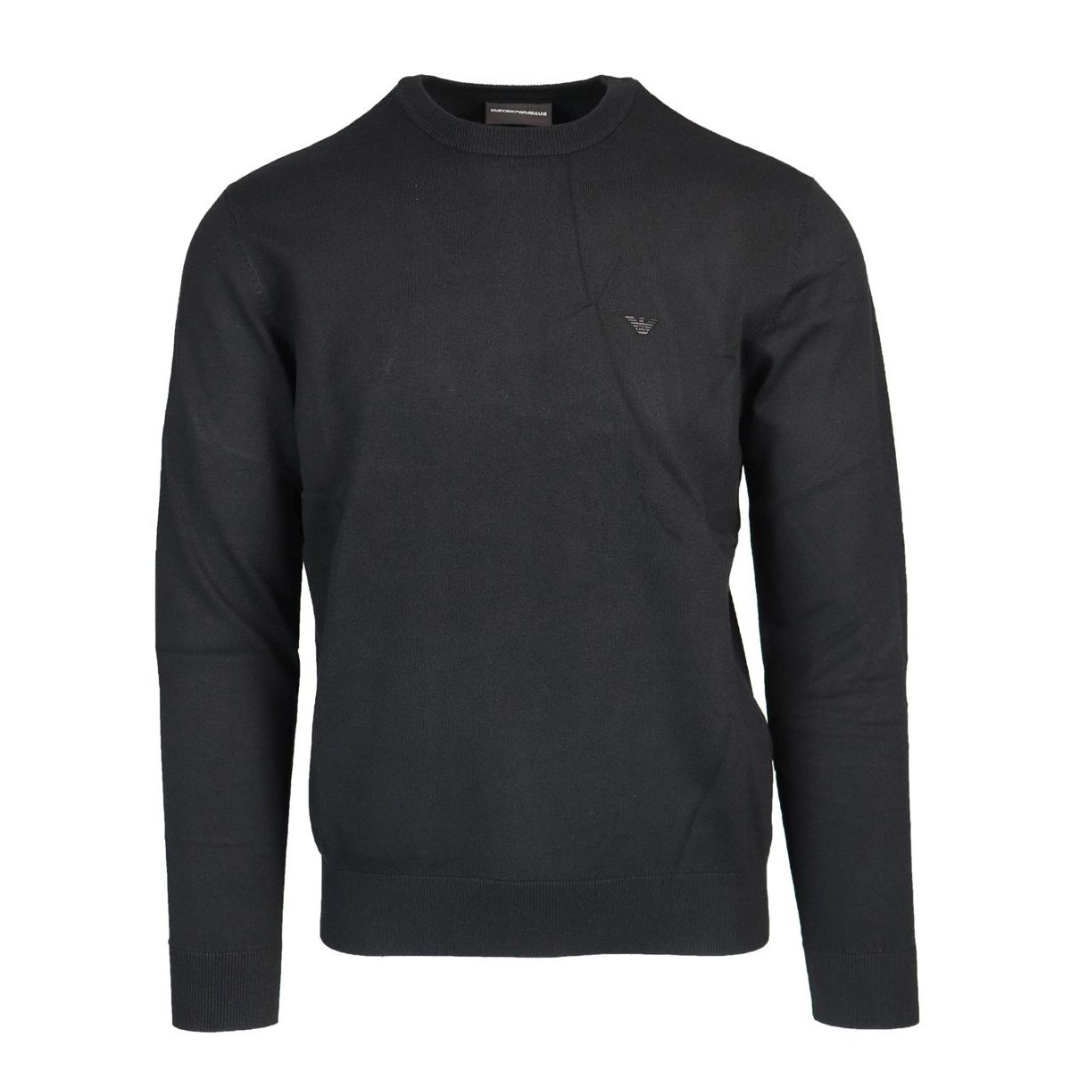 Viscose blend crew neck sweater Black Emporio Armani