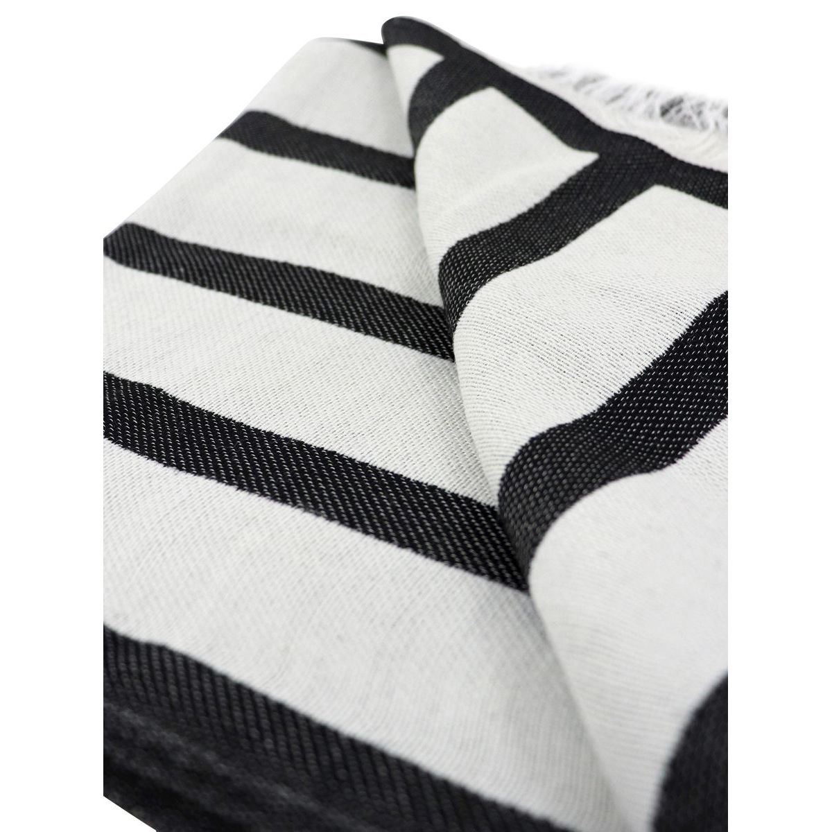 Scarf with contrasting logos and lettering Black Emporio Armani