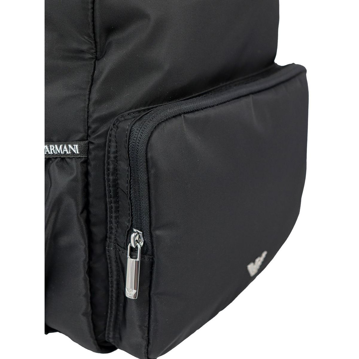 """Mummy bag"" variant backpack with bottle holder Black Emporio Armani"