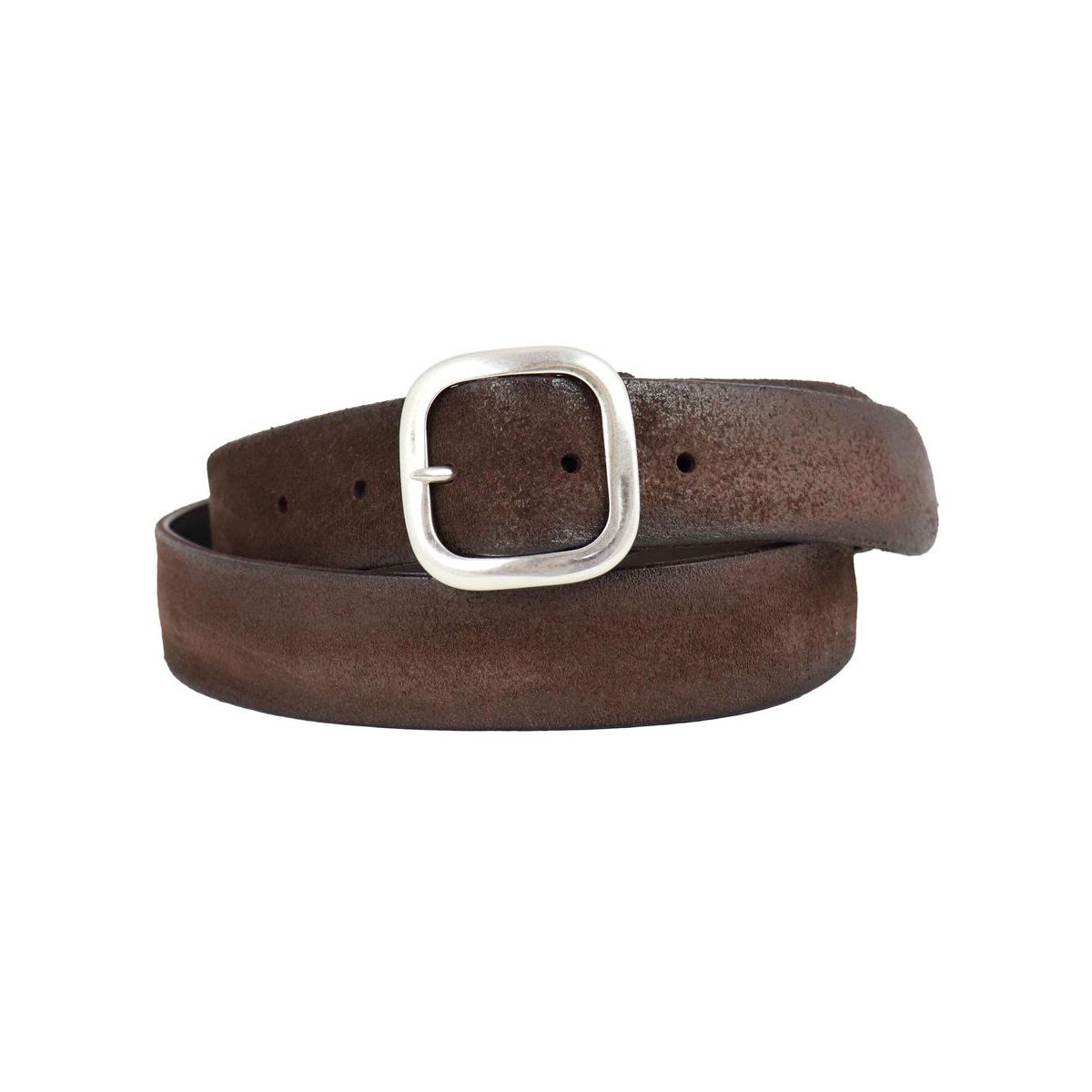 Hunting Double belt in suede Moro Orciani