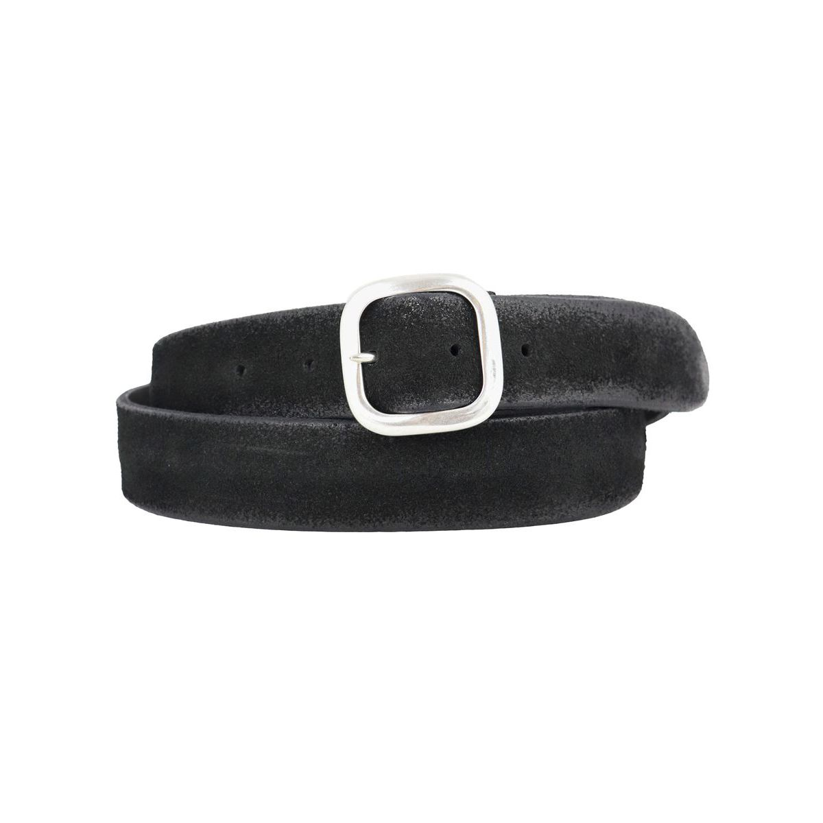 Hunting Double belt in suede Black Orciani