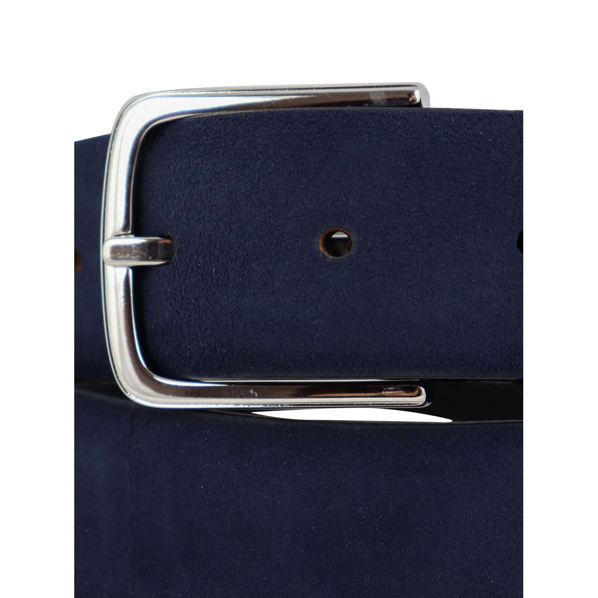 Suede belt with double loop Blue Orciani