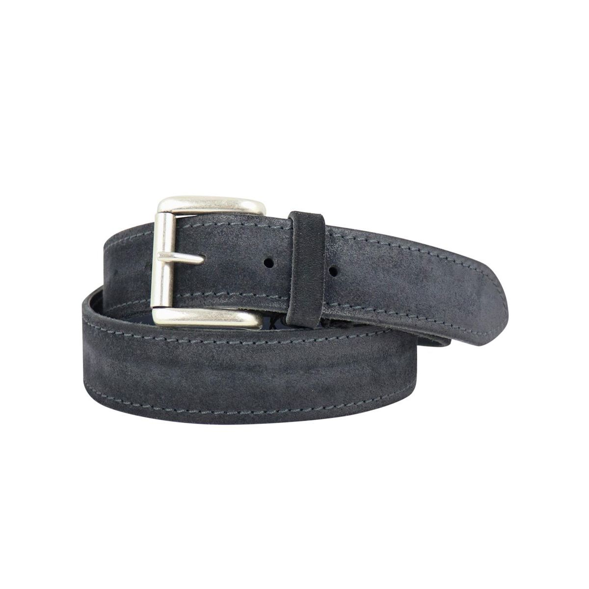 Brushed suede belt Grey Orciani