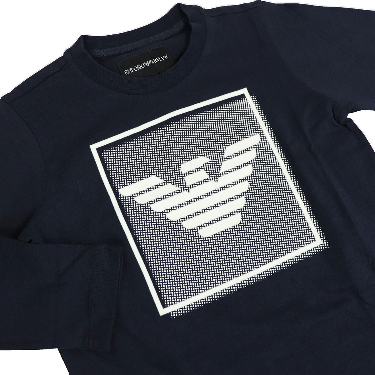 Long sleeve t-shirt in cotton with logo Blue Emporio Armani