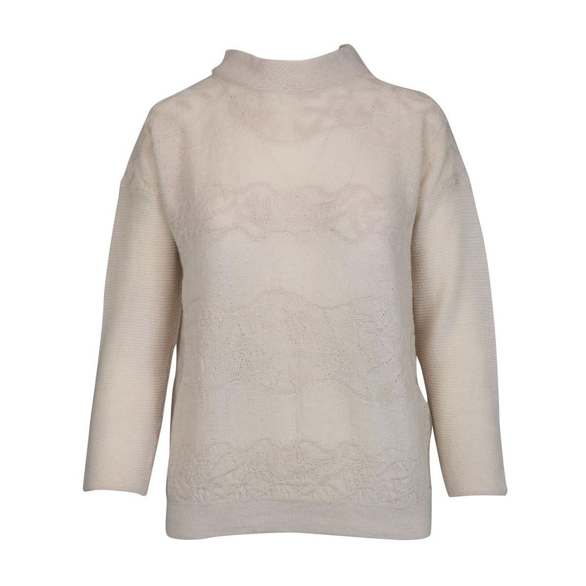 Turtleneck sweater in wool with embroidery Ice Alpha Studio