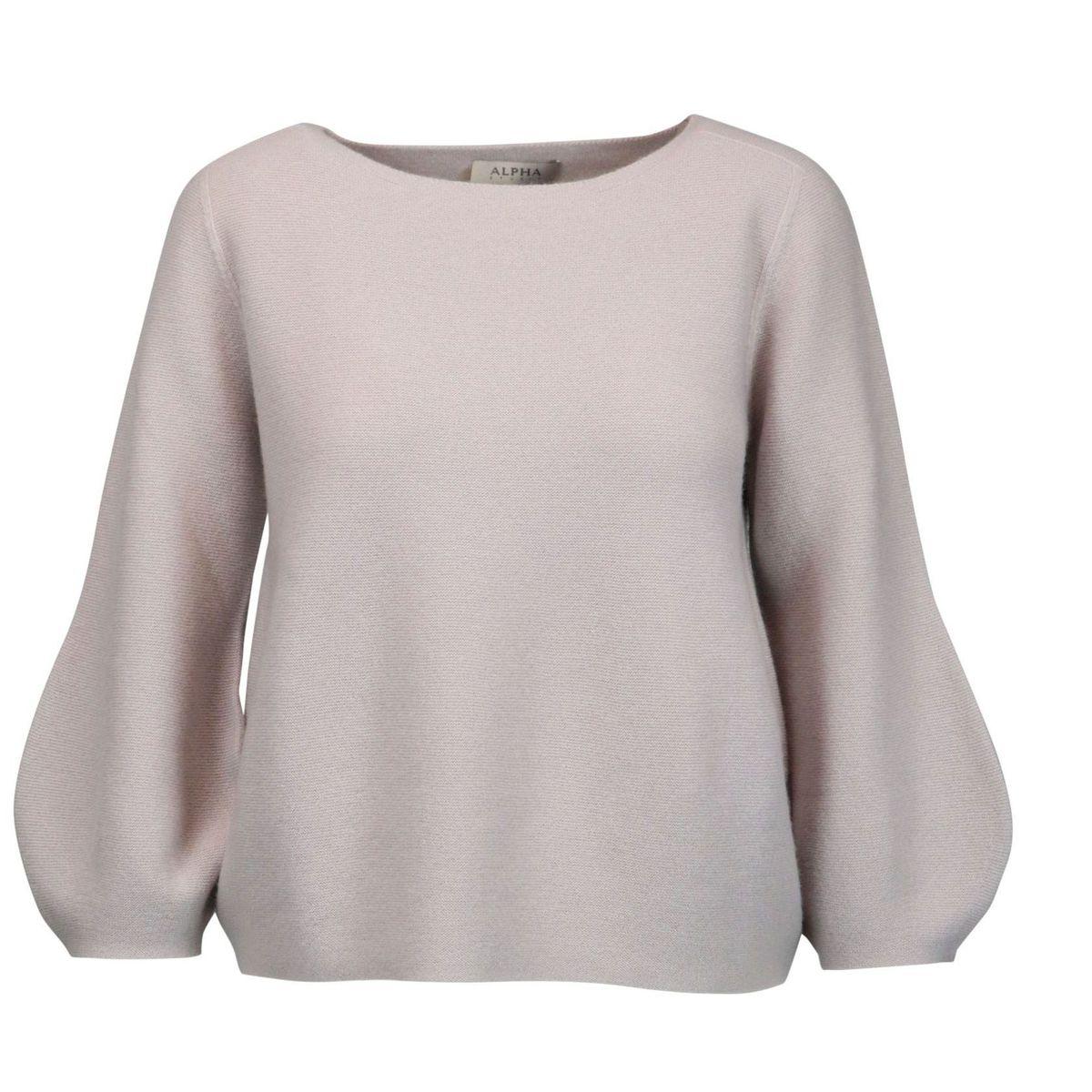 Boat neck cashmere sweater Ice Alpha Studio