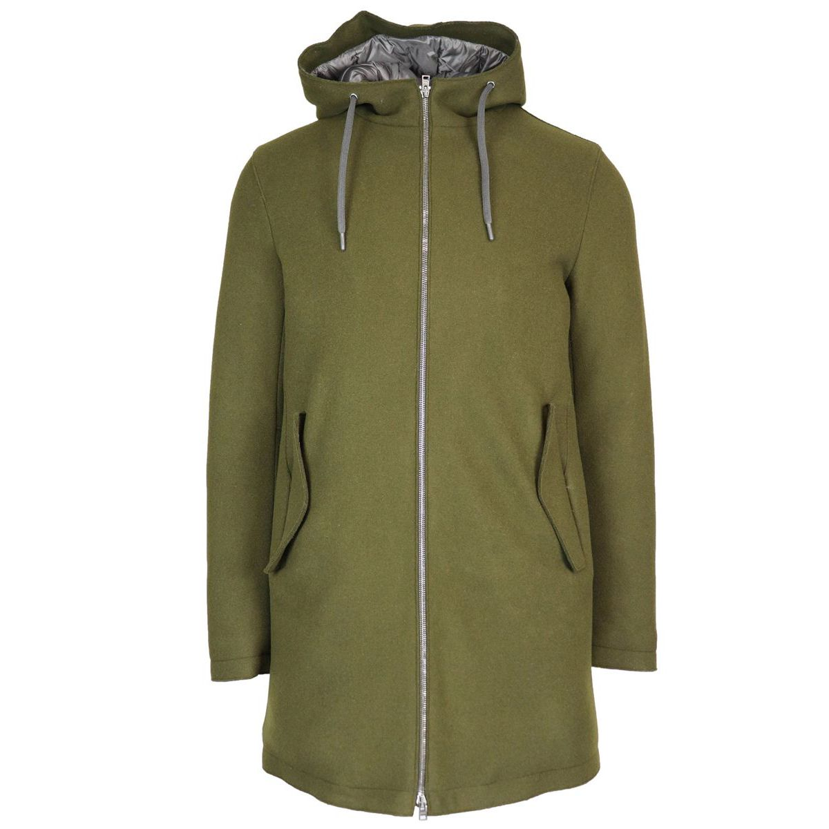 Wool-blend jacket with hood Bosco Herno