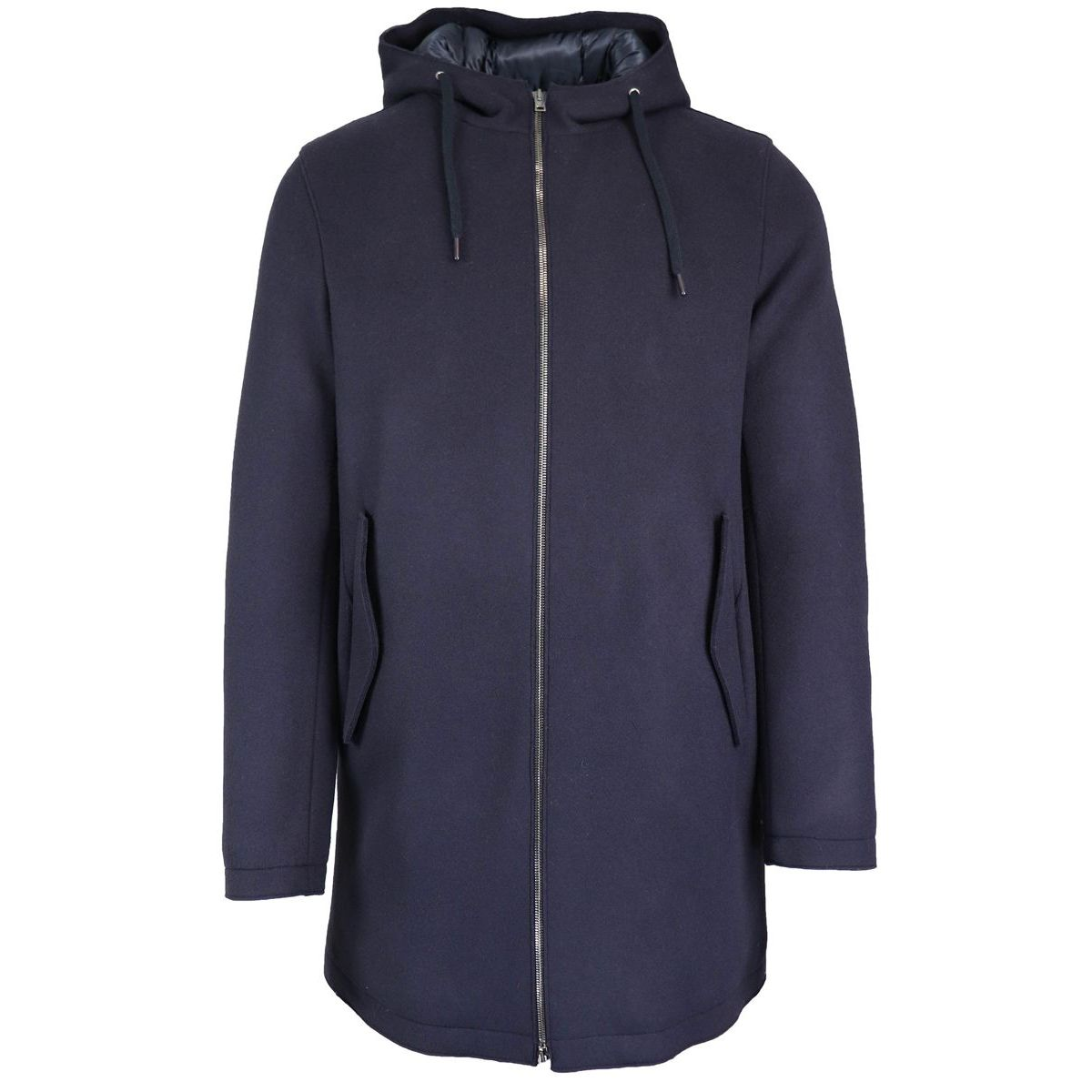 Wool-blend jacket with hood Navy Herno