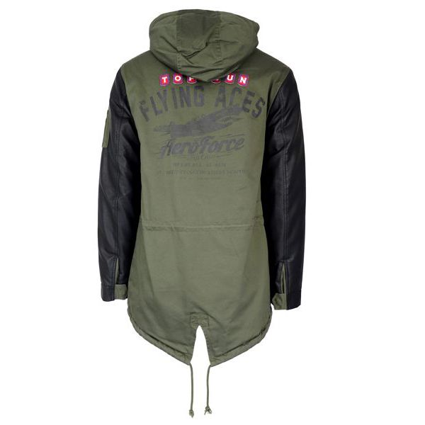 Parka Mitchell with patch applications Olive Top Gun