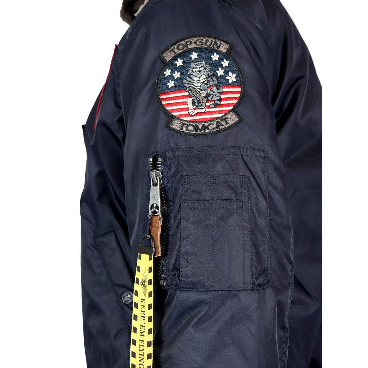 Giubbotto Iceman con applicazioni patch Navy Top Gun