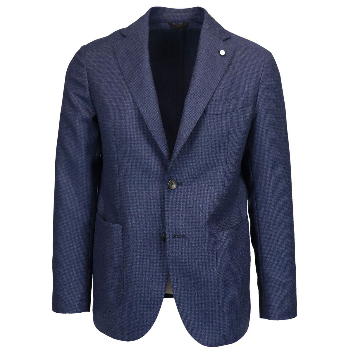 Micro-patterned 10 POCKETS wool jacket Blue L.B.M. 1911