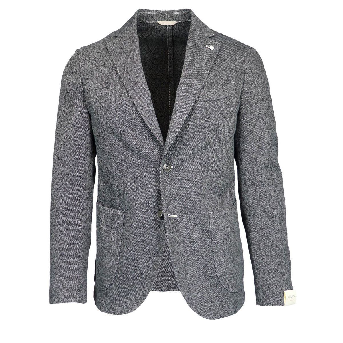 Unlined jacket in textured cotton Grey L.B.M. 1911