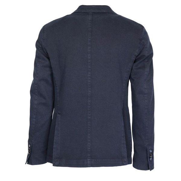 Unlined jacket in textured cotton Denim L.B.M. 1911