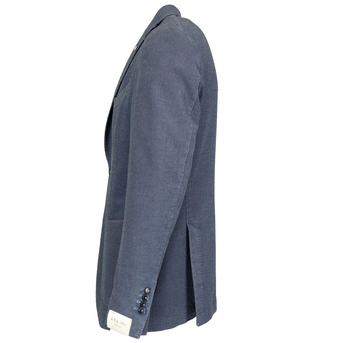 Two-button jacket in textured cotton Light blue L.B.M. 1911