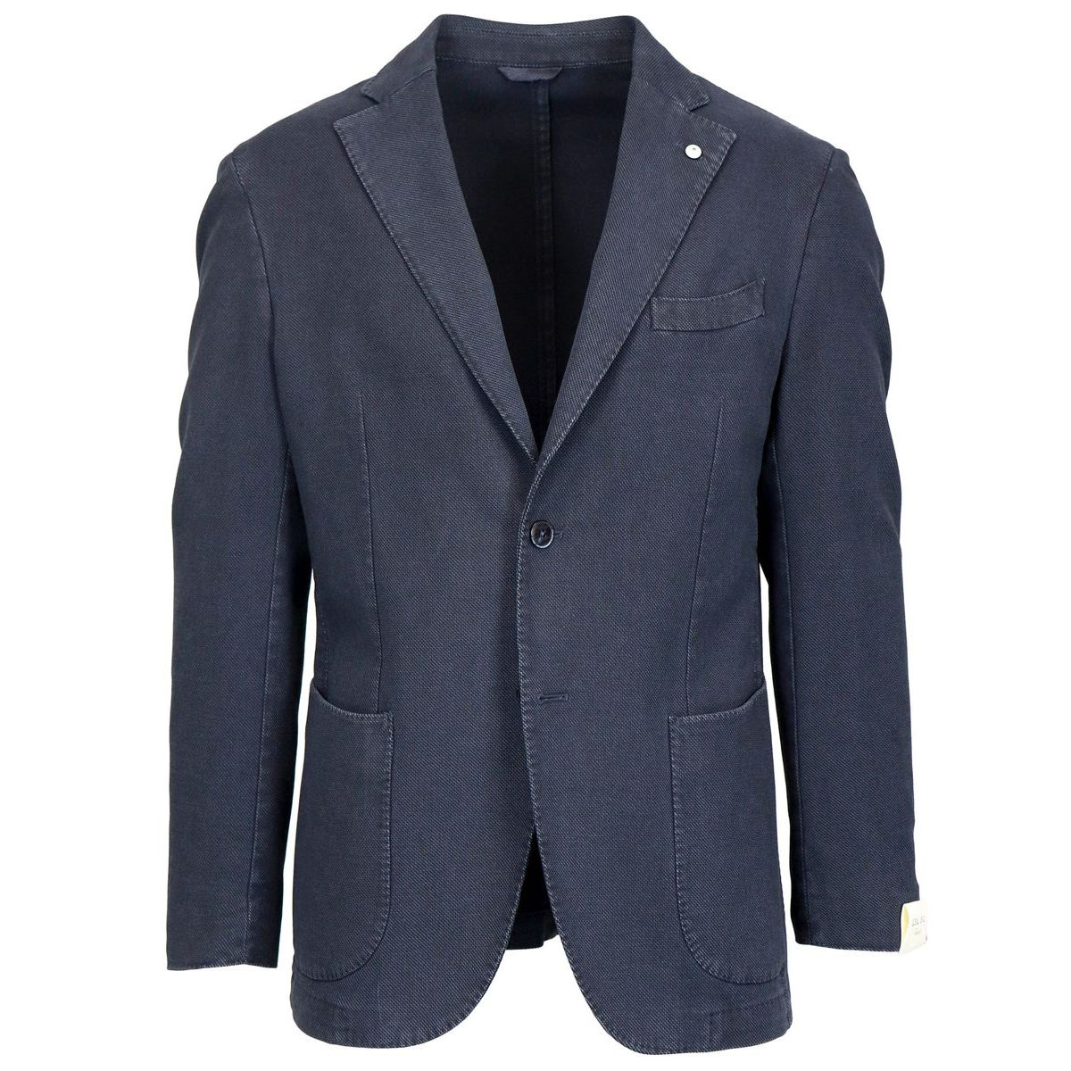 Two-button jacket in textured cotton Denim L.B.M. 1911
