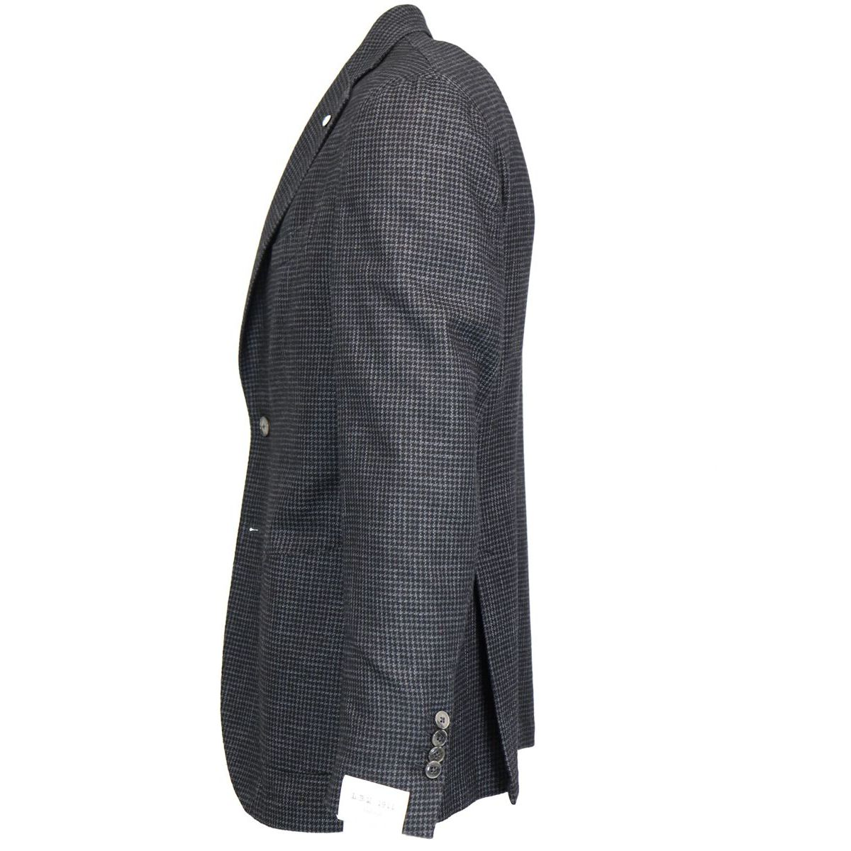 Short wool / houndstooth mixed jacket Anthracite L.B.M. 1911