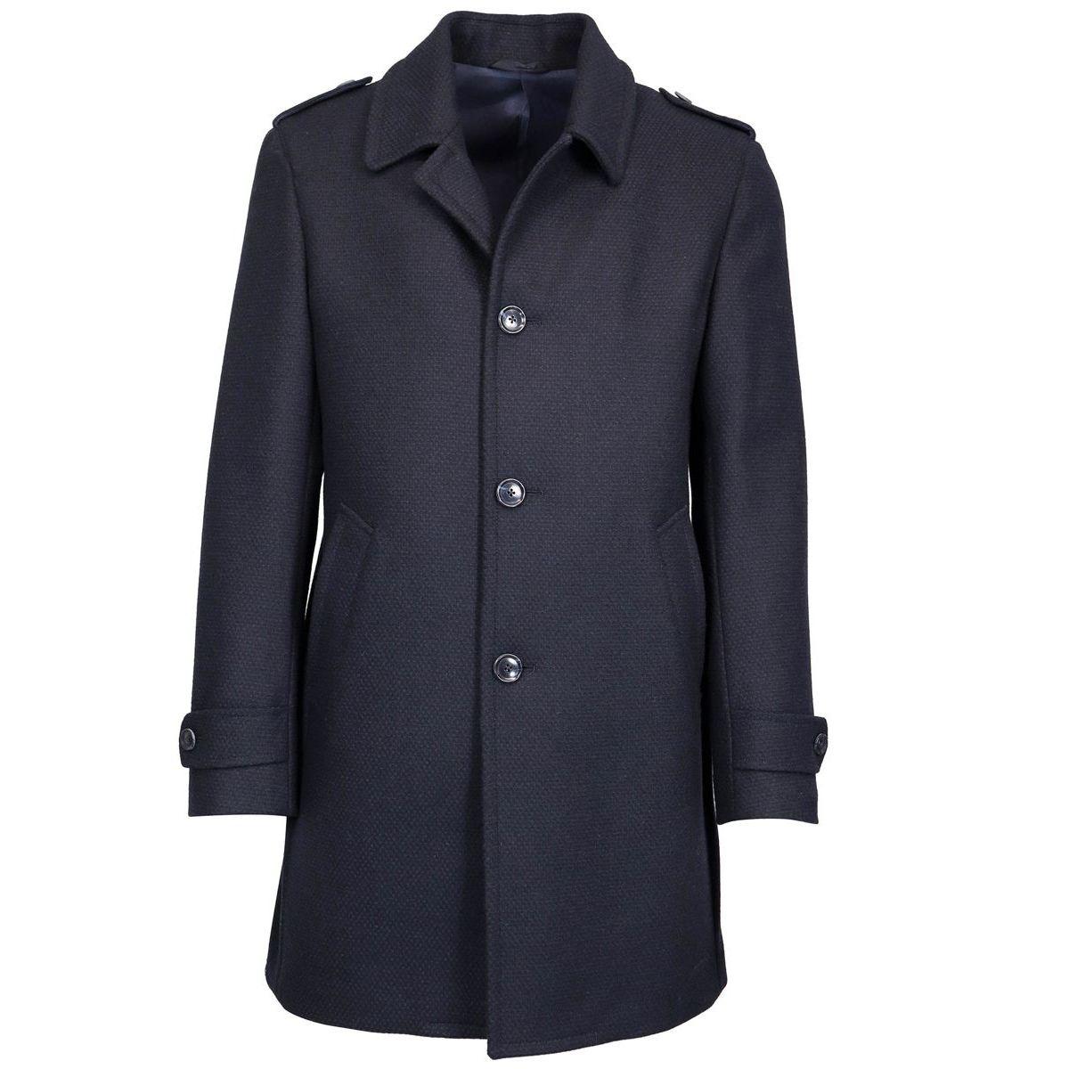 3 button wool blend coat Navy L.B.M. 1911