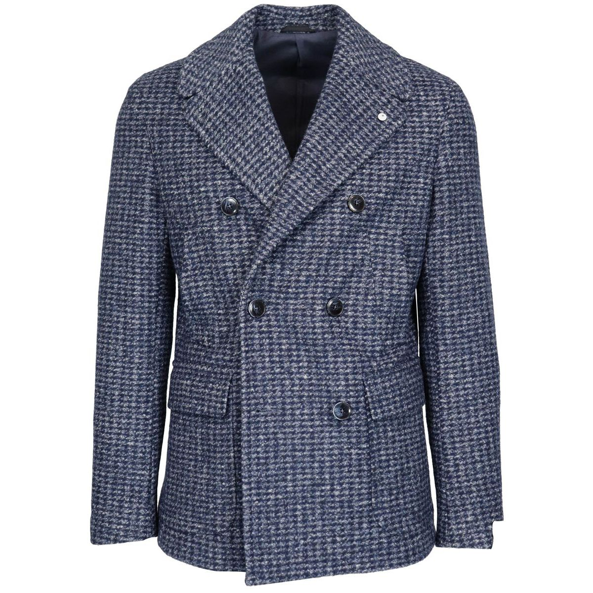 Double-breasted wool blend coat Blue L.B.M. 1911