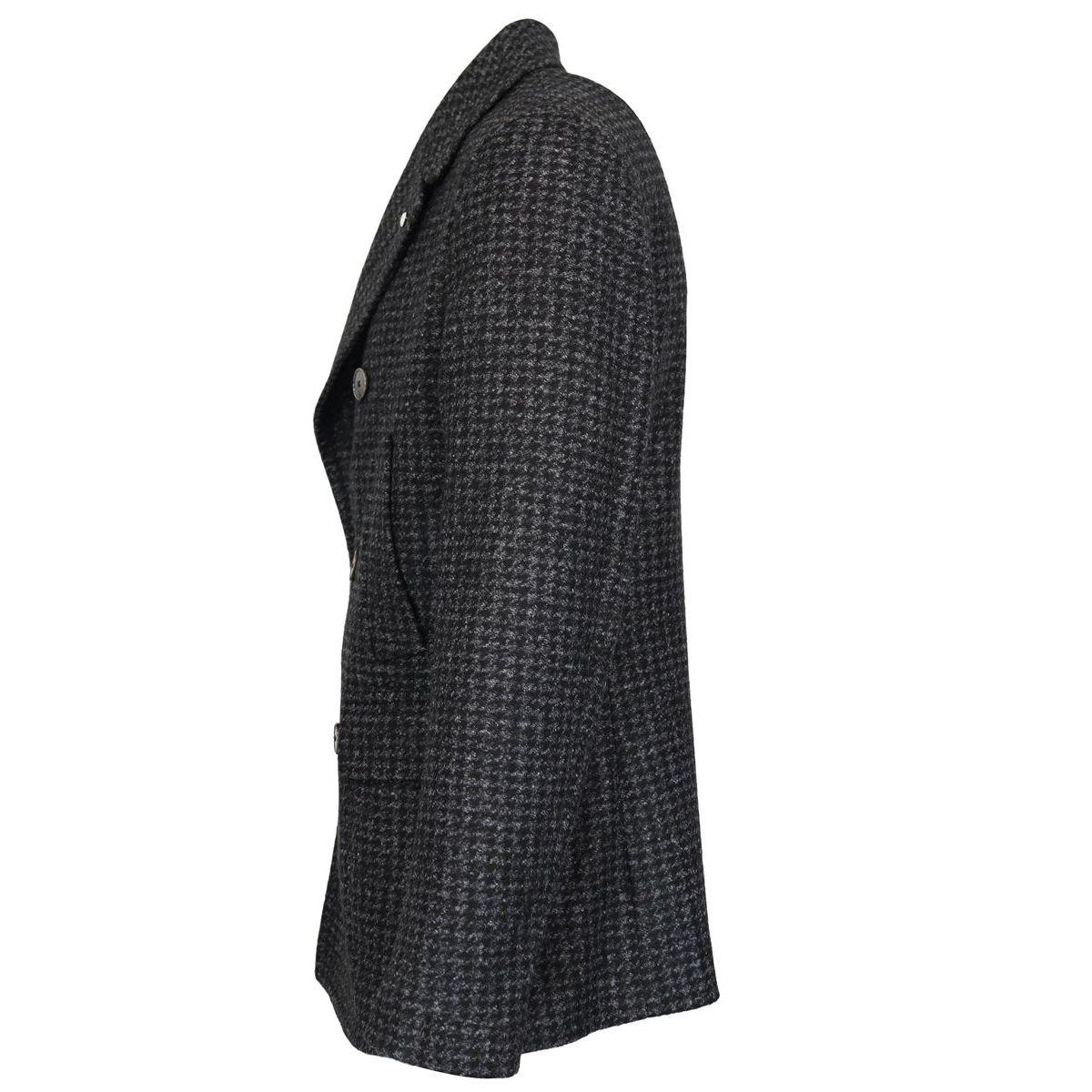 Double-breasted wool blend coat Black L.B.M. 1911