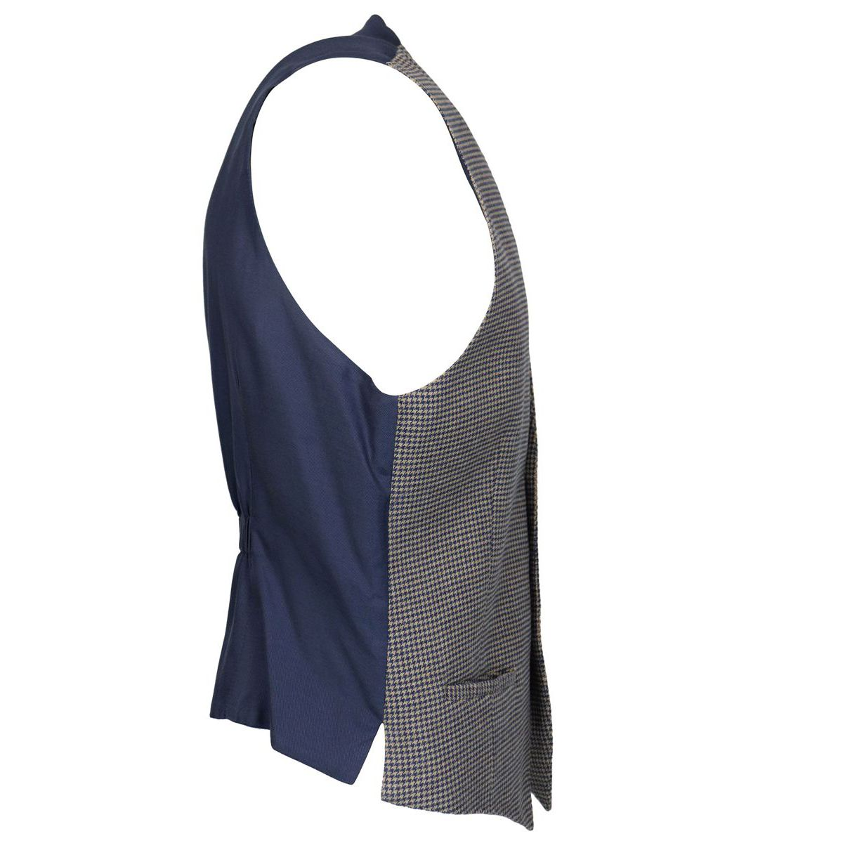 Houndstooth patterned cotton vest Tortora L.B.M. 1911