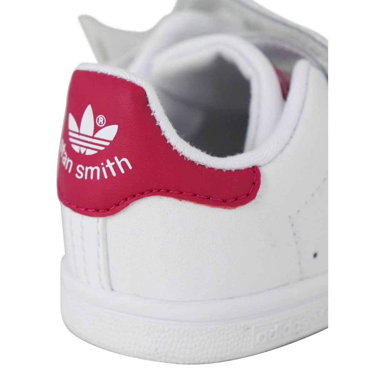 Baskets BZ0523 STAN SMITH Blanc / fuchsia Adidas