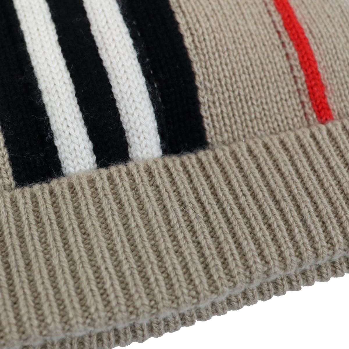 Checked pattern cashmere blend cap Beige check Burberry