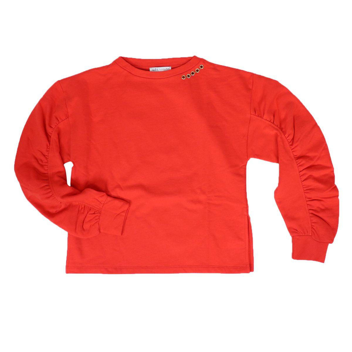 Cotton sweatshirt with big logo on the back Red Patrizia Pepe