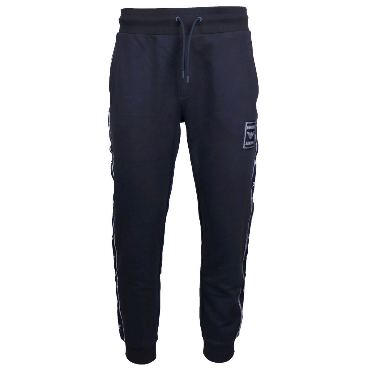 Sporty trousers with logoed side band Navy Emporio Armani