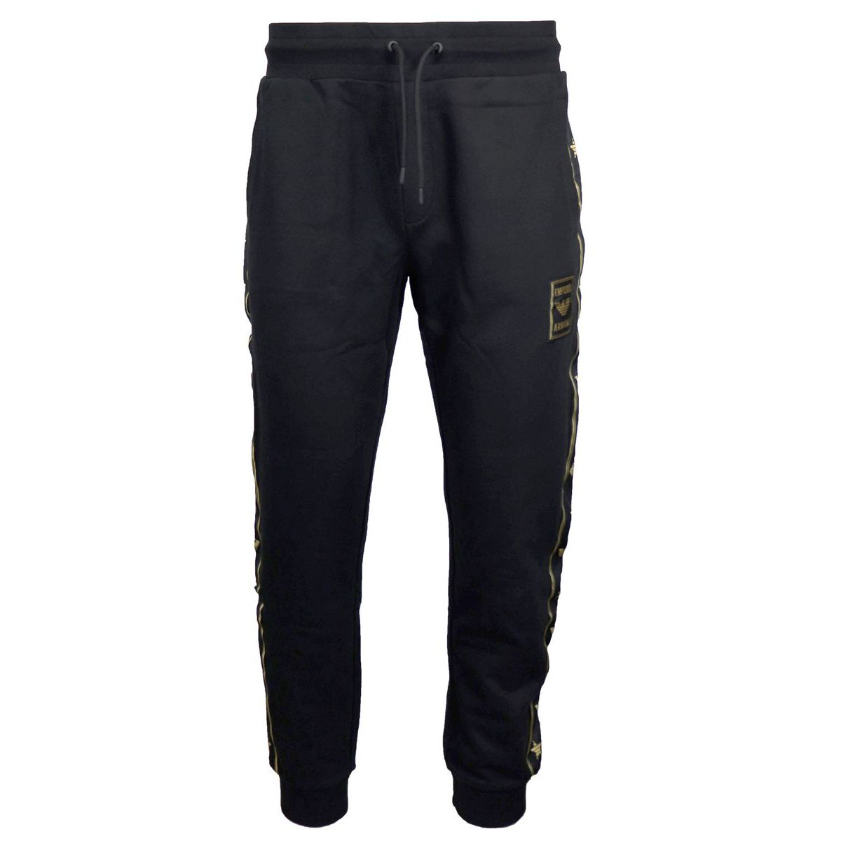 Sporty trousers with logoed side band Black Emporio Armani