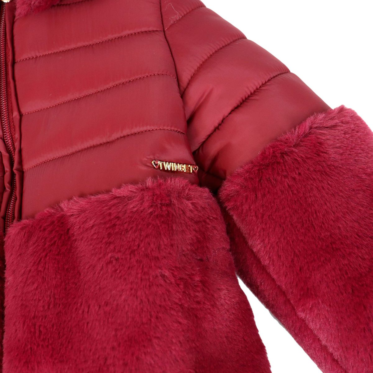 Bi-material fur-effect jacket Ruby Twin-Set